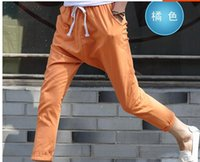 Wholesale Cheap Clothes For Male - Wholesale-Mens Harem Pants For Men Camuflage Gym Jogging Trousers Cheap Male Clothing Famous Brand Summer Style Cotton Linen Feet Pants