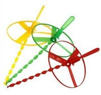 Wholesale Plastic Bamboo Dragonfly - hot sale Fashion cheap Flying fairies flying disc wheel push plastic bamboo dragonfly flying saucer frisbee