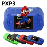 PXP3 Slim Station 16 Bit Handheld Game Player Digital Pocket + Game Cartridges Video Game Console + AV Cabo / Carregador / Bateria / Caixa