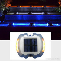 Compra Rivestimento Solare-Lampade solari a LED Super Bright Path Driveway Pathway Deck Light Outdoor Home Garden Solar Power Road Light