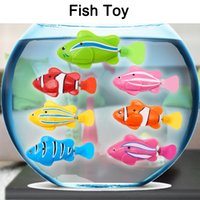 Wholesale Robot Fish Led - Original Robo fish Robofish Electric Toy Emulational Toy Robot Fish Electronic pets Creative Baby toys LED Robot Fish with Box