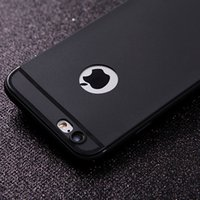 Wholesale Phone Dust Covers - Hot Silicone Case for iphone 7 6 6s Cover Soft TPU Matte Phone Case Shell with DUST CAP for Apple iphone 7 plus