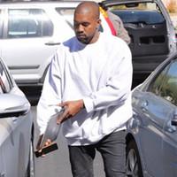 passendes sweatshirt großhandel-kanye sweatshirt übergroßen männer frauen jugendliche lässig hip hop sweatshirts solide pullover alle entsprechen kleidung sweatshirts