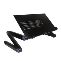 Wholesale Notebook Cooler Stand - FEDEX Free Shipping Minray Adjustable Aluminum Folding Laptop Notebook Tablets PC iPad Stand