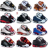Wholesale Cheap Cotton Canvas Fabric - (With Box)Wholesale 2017 Cheap New Air Retro 13 13s men basketball shoes Original quality outdoor sports shoes for men Black red blue US8-13
