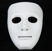 Wholesale Masquerade Masks Hip Hop - 5 Colors Hip Hop Street Dance Mask Adult Men's Full Face Party Mask Costume Masquerade Ball Plastic Plain Thick Masks CCA7258 1000pcs