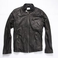 Wholesale Goat Leather Jacket Men - Fall-Factory Men's Genuine Leather Jacket For Men Real Matte Goat Skin Sheepskin Fashion Brand Black Male Coat Plus Size 6XL ZH031
