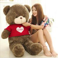 satılık oyuncak oyuncak ayılar toptan satış-Yeni Varış Teddy Bear Sıcak Satış 80 Pamuk Açık Kahverengi Dev 40/60/80 cm Sevimli Peluş Teddy Bear Büyük Yumuşak OYUNCAK