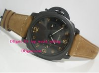 Wholesale 44mm Pam - AAA Top quality Luxury Men's Auto Date Black Dial 44mm GMT Pam441 Pam 441 00441 Automatic Mens Watch Men's Watches men watch