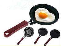 kalp şekli pot toptan satış-Pişirme yumurta araçları mutfak alet Mini karikatür Kek araçları pot Kızarmış Yumurta Gözleme aşk Kalp Şekli Yumurta yapışmaz tava