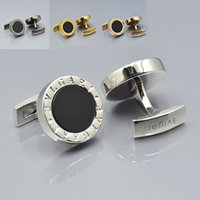 Wholesale Shirts Cufflinks - high quality brand 6 Colors Round shape Men shirt Cufflinks jewelry luxury copper Cuff links for wedding Gift free shipping
