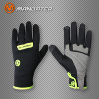 Wholesale Wholesale Long Leather Gloves - Wholesale- MANDATER Bicycle Cycling Long Gloves Motorcycle Motocross Off Road Gloves Motorbike Bicycle Downhill Dirt Bike Gloves