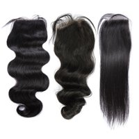 Wholesale Original Closures - Top Lace Closure Brazilian Human Hair Full Lace Closures(4*4) Body,Loose,Straight With Original Virgin Human Hair Free Shipping