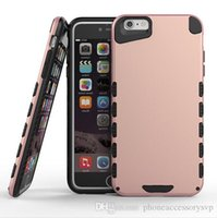 Wholesale Iphone Plastic Cover Baby - Baby Bear 2 in 1 Hybrid Shockproof Armor Plastic TPU Combination Cover Case For Iphone 5 5S 6 6S 6Plus