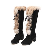 Wholesale Bike Bond - Winter European and American street wind thick with frosted fur stitching boots FEILI BIKE S818