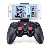 T3 Bluetooth Gamepad per il telefono cellulare Android Smart Box Joystick Wireless Bluetooth controller Joypad Game con supporto mobile