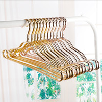 outdoor storage shelf - Metal Hangers Adult Suit Thickening Shelf Clothes Drying Racks Anti Skidding Curve Design Coat Hanger Seamless Rose Gold Rack