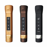 Wholesale mobile phone torch light - Multi-function 6In1 Flashlight Music Torch Outdoor Bike Cycling Bluetooth Speakers Power Bank 2200mah With MP3  LED light   TF card slot  FM