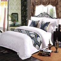 Wholesale Western Queen Bedding - 45*180Cm Western Style Bed Runner Modern Fashion Runners Beddings Bed Towels Bedrunner Classic Brief Bed Runners For Hotel Guest Room