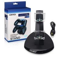 çift usb şarj cihazı kontrol standı toptan satış-Ps4 xbox one kablosuz denetleyicisi için çift şarj 2 usb şarj dock dağı standı tutucu için ps4 xbox bir gamepad playstation ile kutu