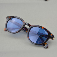 Wholesale Glass Dyes - Pirate captain Johnny Depp men lemtosh eye glasses for men brand sunglasses Can be make dyeing Lenses and Polarized sunglasse