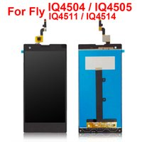 Wholesale Digitizer Flying - LCD Display Assembly For Fly IQ4511 Q4514 IQ4505 IQ4504 Full LCD Display Front Glass Screen Digitizer Touch Screen LCD Panels