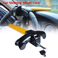 Wholesale anti steel - Car Steering Wheel Lock Universal Anti-Theft Car Van Security Rotary Type T Lock for Car's safe