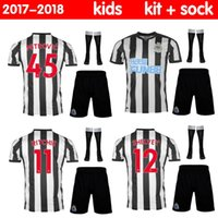 Wholesale New Cycling Kits - new 2017 2018 Newcastle United Home kids Soccer Jerseys GAYLE MITROVIC RITCHIE Football Shirt 17 18 Newcastle kids kit Jersey Thai Quality