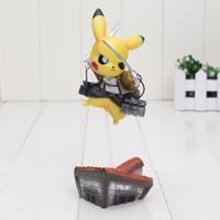 Wholesale Titan Action Figure - 15cm14cm Pikachu Cosplay Attack on Titan figure attack on pikachu PVC Action Figure Model Toy Gift
