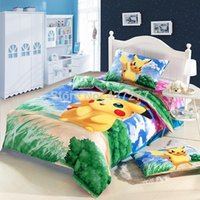 Wholesale Coverlet Kids - Kids cute cartoon 100% cotton bedding sets bedclothes twin full coverlets with bed duvet quilt cover sheets 4 5pc comforter sets