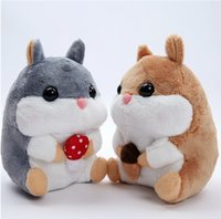 Wholesale Quality Dog Toys Wholesale - Wholesale- high quality 1pcs 20cm cute plush toy Amuse soft hamster stuffed doll little Hamsters plush toy for children best gifts