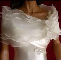 braut wraps großhandel-2016 Pinterest Beliebte Braut Wraps Und Jacken Braut zubehör Für Hochzeitsevent Weiß Organza Vintage Artikel Günstige Wraps