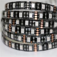 Wholesale Diy Car Tape - DC12V 5M 5050 300LED Strip Light car DRL DIY tape lamp Black PCB Waterproof IP65