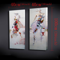 Wholesale Beautiful Girls Picture - Beautiful woman picture 2 panel canvas wall art elegant girl fashion dress adornment picture home painting the bedroom not framed
