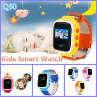 Q60 Montre-bracelet Kid Safe GPS Locating Anti Lost Reminder SOS Finder Device Tracker Monitor Enfants Android Q60 Smart Watch Téléphone VS DZ09 U8