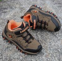Wholesale Rubber Boots Girl 31 - Winter Children Hiking Shoes Boys Girls Teenager Outdoor Sports Shoes Kids Walking Boots Climbing Sneakers EU size 31- 40