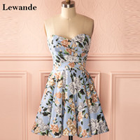 Cinderella Floral Print Sweet 16 Quinceanera Homecoming Dresses Short Lewande A-line Sweetheart Ruched Pattern Party Gown для 15 дней рождения