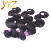 Wholesale Indian Remy Hair Free Shipping - Unprocessed Brazilian Body Wave Virgin Hair Human Hair Weave mixed 8-30inch Natural Color Malaysian Peruvian Hair Extensions Free Shipping