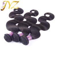 extensions de cheveux brésiliens mixtes remy achat en gros de-Armure de cheveux vierges brésiliens de vague de corps de vierges brésiliens mélangés de 8-30 pouces de couleur naturelle, extensions de cheveux du Pérou