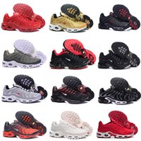 Wholesale Tn Max - 2017 New Men Max TN Running Shoes Triple Black White Gold blue red blue green Max Tn Runner Sneaker sport shoes size 41-46