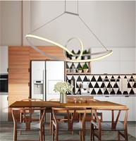 Wholesale kitchen light fixtures for sale - modern minimalist led pendant light led hanging lamp suspension chandeliers livingroom indoor lighting fixture Aluminium AC90 V
