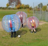 futebol bola rolante zorb venda por atacado-C inflável zorb bola inflável bumper ball crianças adulto bolha bolas de futebol futebol esporte zorbing bola com 1 m 1.2 m 1.5 m casual jogos
