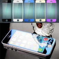 protetor de tela colorida iphone 5s venda por atacado-Prova à prova de explosão de vidro temperado colorido para iphone 6 6 s plus 5 5s 5c se cor protetor de tela protetor de filme espelho com caixa de varejo