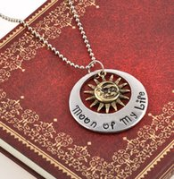 Wholesale Special Statement The game of Throne surrounding pendant necklace Sun of My Life and My Sun and Stars for couple