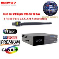 gratuito sat V9 super Satellite Receiver +1 anno account cccam + USB wifi DVB-S2 set top box Powervu Youtube