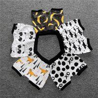 Wholesale banana clothing resale online - Hot INS baby clothing summer PP shorts Prints Banana fruit whale Kids Toddler XO shorts Harem shorts Children clothes hotsale