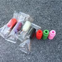 nano e cig großhandel-Einzeln verpackende Silikon-Tropfspitzen Mundstück-Abdeckung 510, die Tropfspitzen für Atlantis-Subtank-Mini-Nano-Wegwerf-E Cig DHL geben frei
