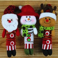 Wholesale best solid doll resale online - Santa Claus Snowman Reindeer Doll Christmas Decoration Xmas Tree Hanging Ornaments Pendant Best Gift fast shipping F20172049