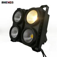 lavagem led de luz de poder venda por atacado-New Professional Combinação 4x100 W LED blinder luz 4eyes COB Cool / Warm Branco LED Wash Light alta potência DMX Iluminação Cénica