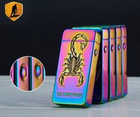 Scorpion 3D Pattern Lighter Pulse Double Arc Cigarette Lighter USB Charging
